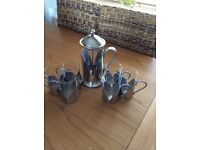Stainless steel and glass cafeteria & mug set from M&S