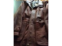 Real leather men's 3/4 length jacket fully lined , excellent condition( made in Cyprus)