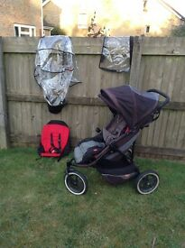 Phil and Teds Double Pushchair with lots of extras