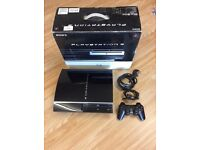 PS3 60GB console (PS2 compatible) and games