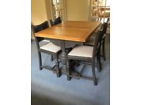 Fabulous Antique Oak Draw Leaf Table and Chairs circa 1930's