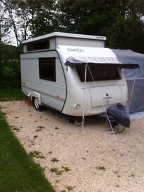 Rapido Club 31 pop up lightweight small 2 berth caravan