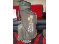 King Cobra S Cart Bag, Green,all zips working, Great pockets, 6 way dividers.
