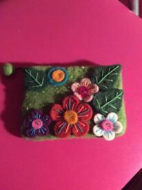 Vintage felted purse