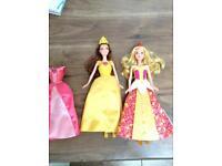 2 X Disney Princess dolls