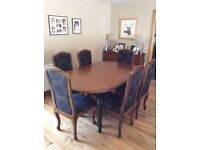 Dining Table & 6 Chairs Ex Stirling Furniture