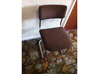 Retro dining chair set.