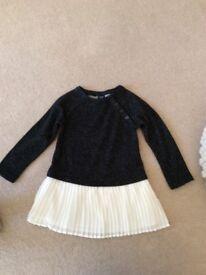 Gap black sparkly dress age 2