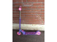 VGC KIDS EVO ZX2 INLINE FOLDING STUNT SCOOTER (Purple Pink - with Integrated Rear Brake RRP £120)