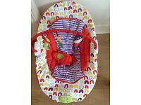 Mamas and Papas Baby Capella vibrating and music bouncer/rocker chair
