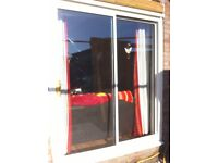 White PVC Double Glazed External Sliding Patio Doors only £100 and in Good Condition