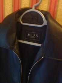 Real leather mans jacket