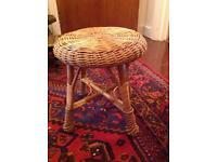 Antique wicker stool