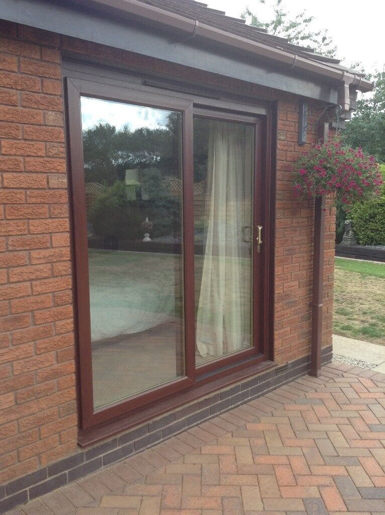 new arrival faf13 a32d6 UPVC sliding patio doors Rosewood colour | in Telford, Shropshire | Gumtree