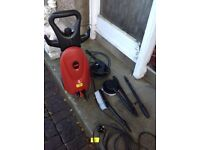 Powerbase Xtreme 1800w Pressure Washer 140 Bar with box, manual, nozzles,brushes
