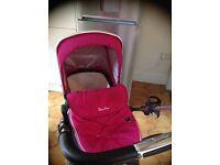 Pink silver cross pushchair