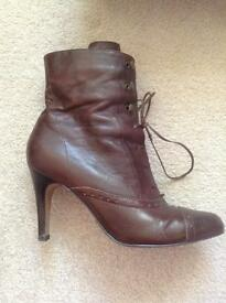 Brown Ladies Ankle Boots