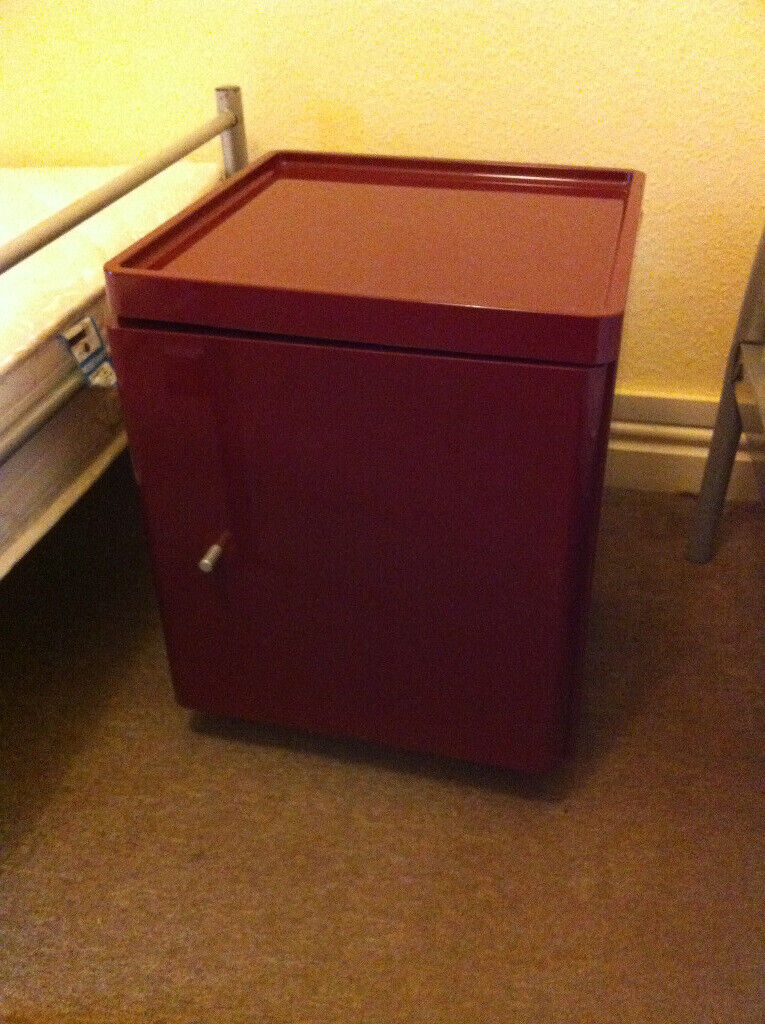 Retro Style Container Bedside Table: Retro Style Bedside Table Cabinet Night Stand Cupboard On