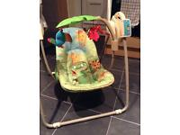 Fisher price rainforest swinging chair