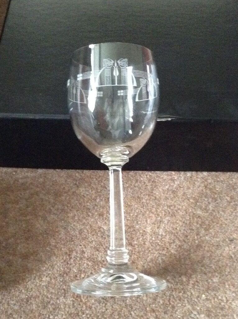 Charles Rennie Mackintosh Crystal Wine Glasses In Kings