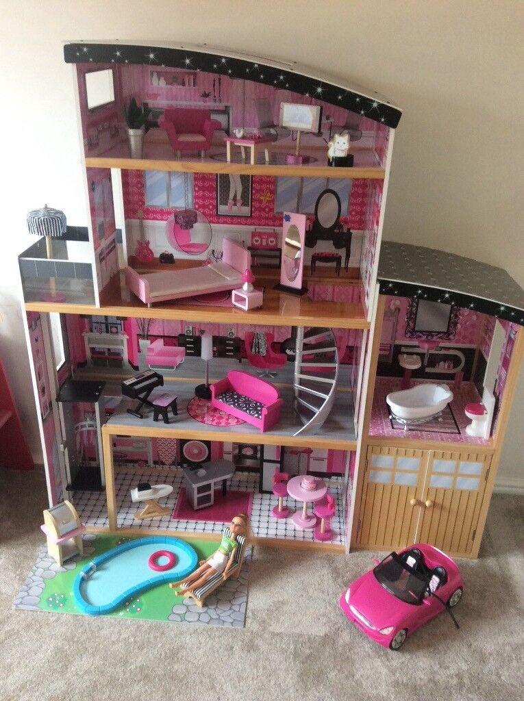Kidkraft Sparkle Mansion Dolls House In Hartlepool County Durham
