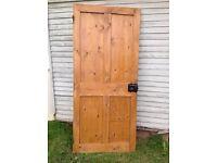 Original Victorian Stripped Pine 4 Panel Door 1834x815x30mm
