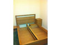 Oak Storage Double Bed (Futon Company)
