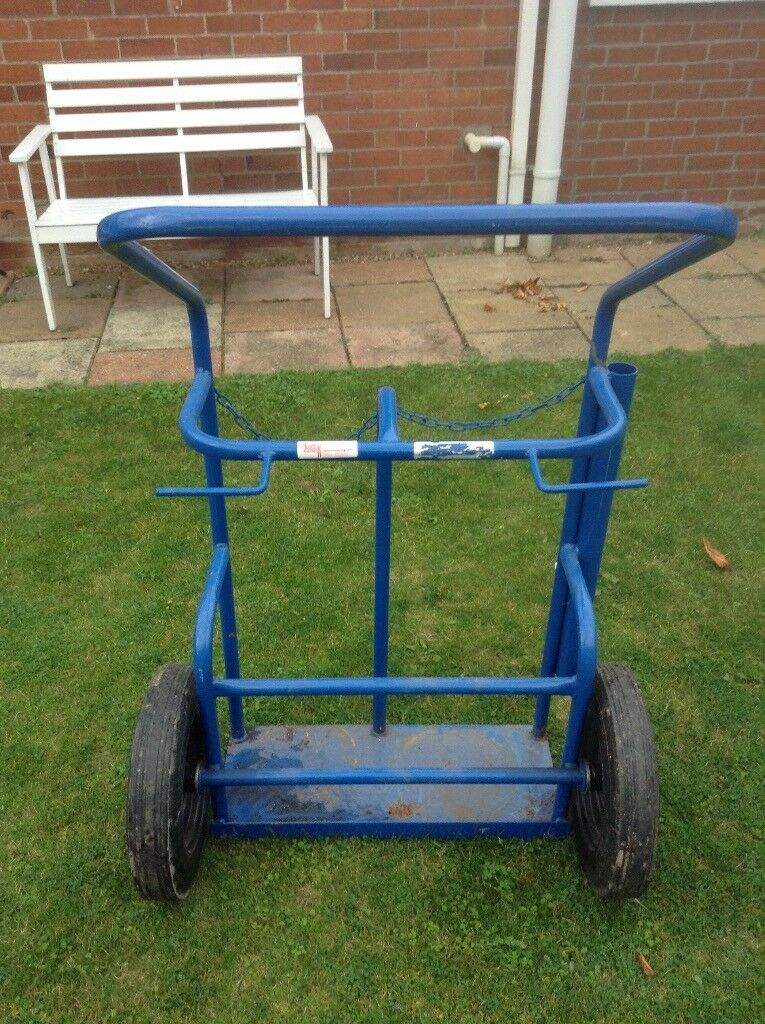 Industrial Double gas cylinder handling trolley
