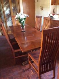 Solid wood , extending table and chairs