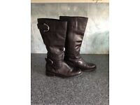 3pairs leather boots RUSSELL & BROMLEY,NEXT,&FAITH 3 pairs leather shoes Size 4