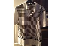 Boys Fred Perry stripe tshirt size youth large