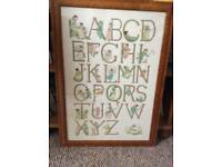 Children's tapestry abc picture