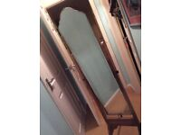 Freestanding bedroom mirror 160 height antique style