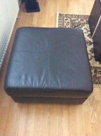 Leather footstool,as new