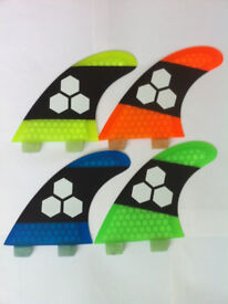 SURFBOARD FINS Honeycomb FCS fit Orange Blue Yellow Green Surf Fin,G5/M5 Thruster Set Of 3 Hexcore