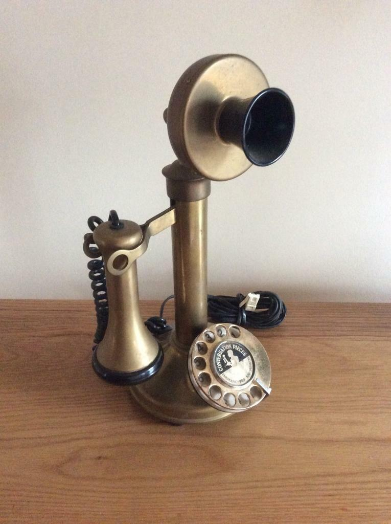 SOLID BRASS CANDLESTICK TELEPHONE