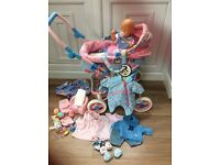 Dolls pram, Baby Born doll, clothes and accessories