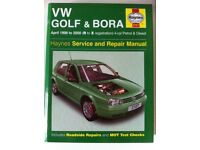 Haynes Workshop Manual For VW Golf & Bora 98-00