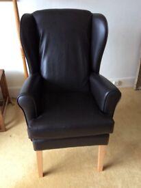 Black orthopaedic chair