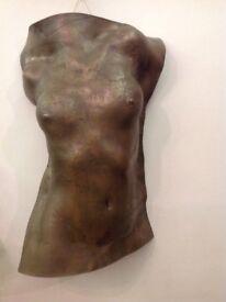 Bronze female torso (Wall hanging) 72x42cm