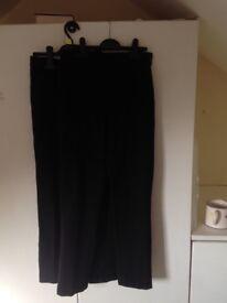 2 X Girls Black School Trousers (11yrs)