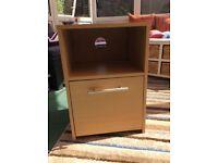 Light wood effect filing cabinet / printer stand