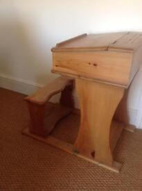 Solid Wood Antique Pine Children's Desk