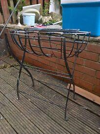 cast iron flower basket