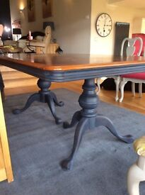 Dining table - upcycled, large, solid wood, can seat 8-10