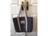 Jack Wills quilted shopper tote bag