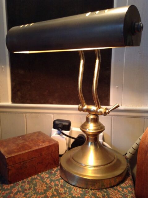 Vintage Style Brass Bankers Desk Lamp Beautiful Art Deco Style In Full Working Order In Camborne Cornwall Gumtree