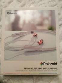 Polaroid Pro Wireless NeckBand Earbuds. Bluetooth. Brand New
