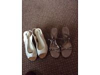 2 pairs of ladies sandles