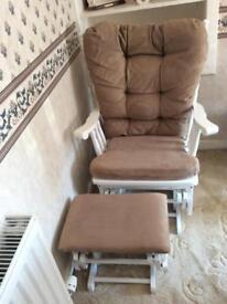 Rocking nursery chair/rocking footstool